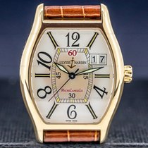 Ulysse Nardin Yellow gold Automatic Silver Arabic numerals 35mm pre-owned Michelangelo