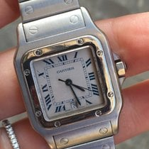 Cartier santos quarzo quartz medio medium acciaio steel full set