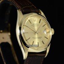 Rolex Oyster Perpetual DATEJUST Ref. 1600 Oro giallo / Pelle