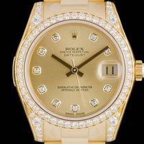 Rolex Datejust Mid-Size Unworn Gold Diamond Set