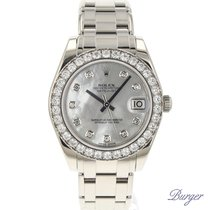 Rolex Datejust Pearlmaster 34 White Gold Diamond MOP Dial