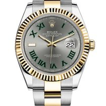 Rolex Datejust Rolex 126333 Datejust 41mm Steel and Yellow Gold Slate Roman 2020 new