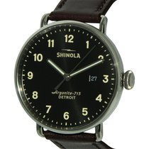 Shinola The Canfield Black Dial Leather Strap Men's Watch...