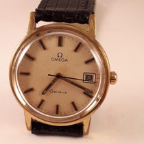Omega-GENEVE-GOLD PLATTED-136.0104.IVORY DIAL-DATE-1030...