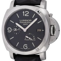 Panerai Luminor 1950 3 Days GMT Power Reserve Automatic Steel Black Arabic numerals
