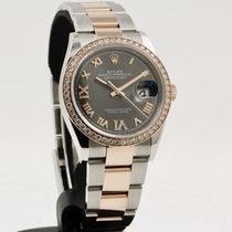 Rolex Datejust Or/Acier 36mm Gris Romain