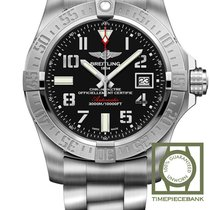 Breitling Silver Automatic Black 45mm new Avenger II Seawolf