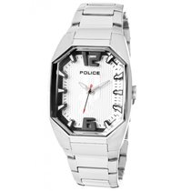 Police Steel 32mm Quartz 12895LS/04M new