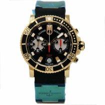 Ulysse Nardin Rose gold Automatic Black 42.7mm new Maxi Marine Diver
