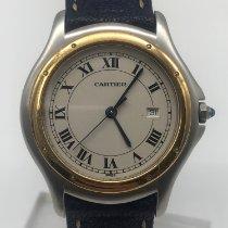 Cartier Cougar Stahl 33mm Weiß Römisch