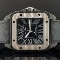 Cartier Santos 100 LARGE Men's Black PVD ADLC Automatic...