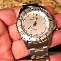 Jacques Lemans Geneve Swiss Automatic Diver 44mm Silver 200m