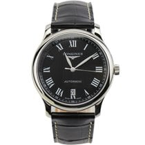Longines Master Collection L2.628.4.51.7 Longines MASTER Acciaio Nero Pelle Romani new