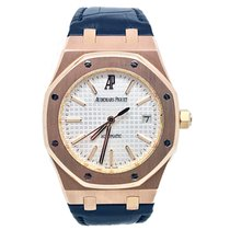Audemars Piguet Royal Oak Selfwinding Rose Gold Silver Dial...