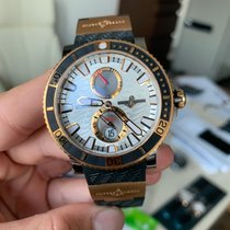 Ulysse Nardin Red gold Automatic White 45mm new Maxi Marine Diver
