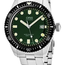 Oris Steel Automatic Green 42mm pre-owned Divers Sixty Five
