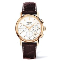 Longines Rose gold Automatic Champagne No numerals 39mm new Column-Wheel Chronograph