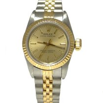 Rolex Chronometer 24mm Automatik 1989 gebraucht Oyster Perpetual (Submodel) Champagnerfarben