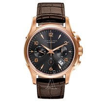Hamilton Jazzmaster Auto Chrono Gold/Steel 52mm Brown Arabic numerals