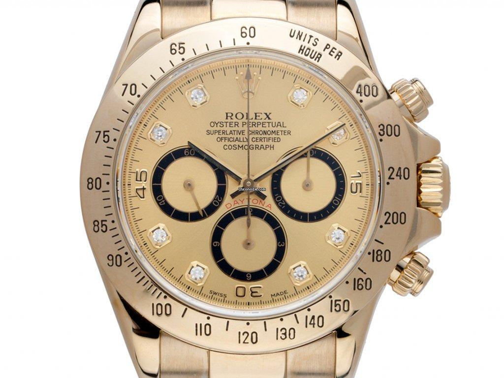 Rolex Daytona Zenith Inverted Six 18kt Gelbgold Diamanten For