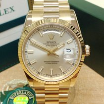 Rolex 118238 Yellow gold 2016 Day-Date 36 36mm pre-owned United Kingdom, Wilmslow