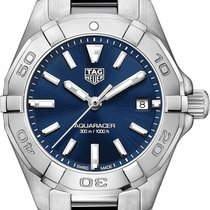TAG Heuer Steel Quartz Blue 27mm new Aquaracer Lady