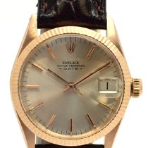 Rolex Rose gold Automatic Silver No numerals 31mm pre-owned Oyster Perpetual Date