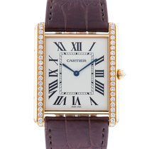Cartier Rose gold Manual winding Silver 35mm pre-owned Tank Louis Cartier