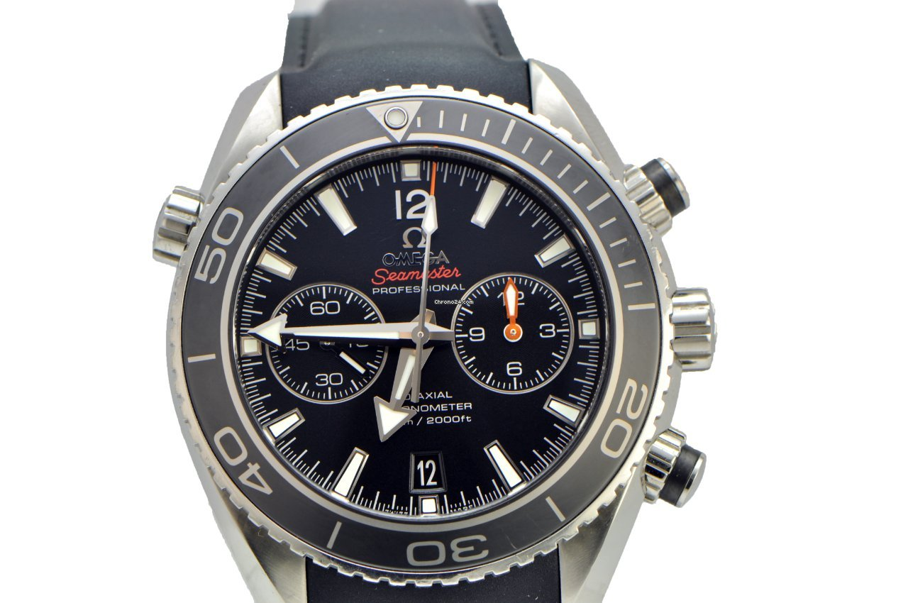 Omega Seamaster Planet Ocean Chrono Black Dial Rubber Mens Watch for $4,990  for sale from a Trusted Seller on Chrono24