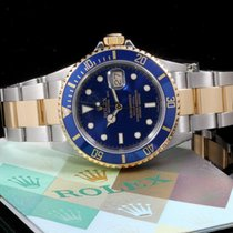 Rolex Submariner 16613 No Holes Case, Blue Dial Box & Papers