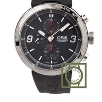 Oris TT1 Chronograph 45mm Grey Dial Rubber Strap NEW