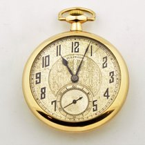 Illinois Gold Filled Open Face Pocket Watch Grade 706