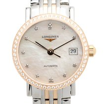 Longines Elegant Pink Gold Diamond Silver Automatic L4.309.5.88.7