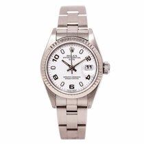 Rolex Date 79160 Women Automatic Watch White Dial 18k White...