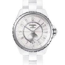 Chanel Or jaune Remontage automatique Blanc 38mm nouveau J12