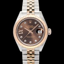 Rolex Rose gold Automatic Brown 28mm new Lady-Datejust