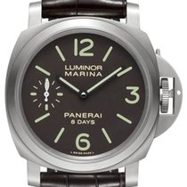 Panerai Luminor Marina 8 Days Титан 44mm Коричневый Aрабские