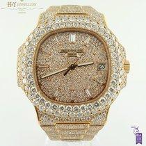 Patek Philippe Nautilus Aftermarket full set diamonds