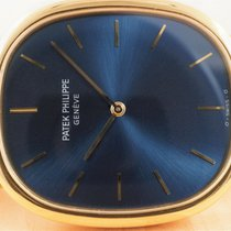 Patek Philippe 31mm Automatic 1980 pre-owned Golden Ellipse Blue
