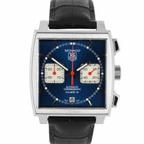 TAG Heuer Monaco Calibre 12 pre-owned 39mm White Leather