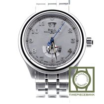 Ball Steel Automatic Silver Arabic numerals 43mm new Trainmaster Cleveland Express