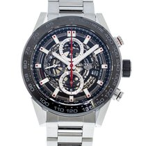 TAG Heuer CAR2A1W Steel 2010 Carrera Calibre HEUER 01 45mm pre-owned