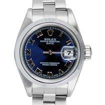 Rolex Oyster Perpetual Lady Date 26mm Синий Римские