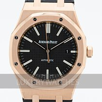 Audemars Piguet Royal Oak Selfwinding Roségull 41mm Svart
