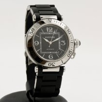 Cartier Pasha Seatimer pre-owned 40mm Black Date Steel