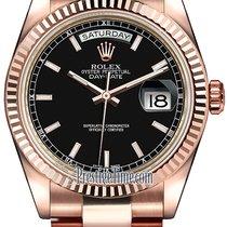 Rolex Day-Date 36 Oro rosa 36mm Nero