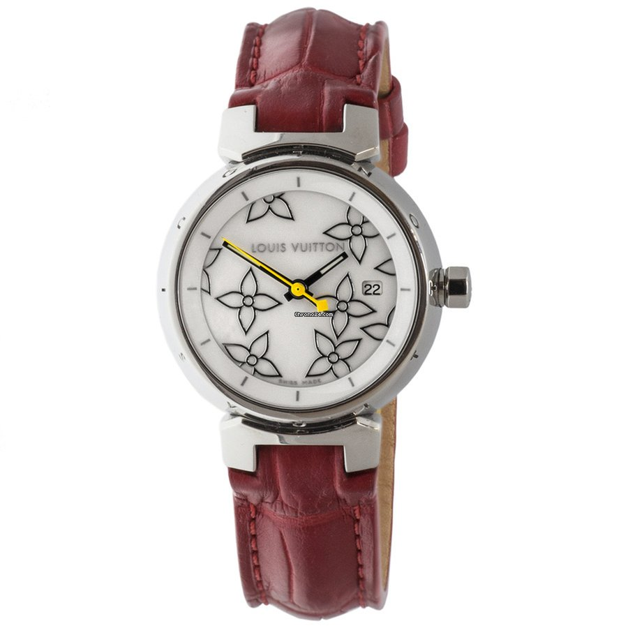 aa4473ca7c Louis Vuitton Tambour Disc Mother of Pearl Watch