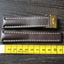 Breitling leather leder 22mm brown strap and clasp