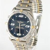 Breitling 40mm Quarz 1998 gebraucht Aerospace Schwarz