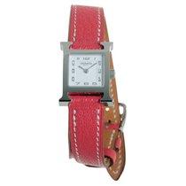 Hermès neu Quarz 17mm Stahl Saphirglas